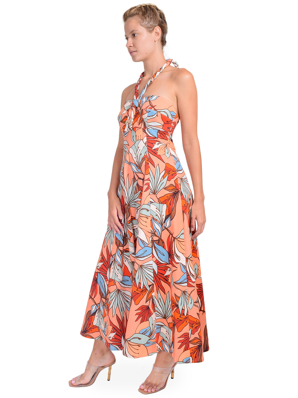 NICHOLAS Tina Dress in Tarama Deco Floral Side View