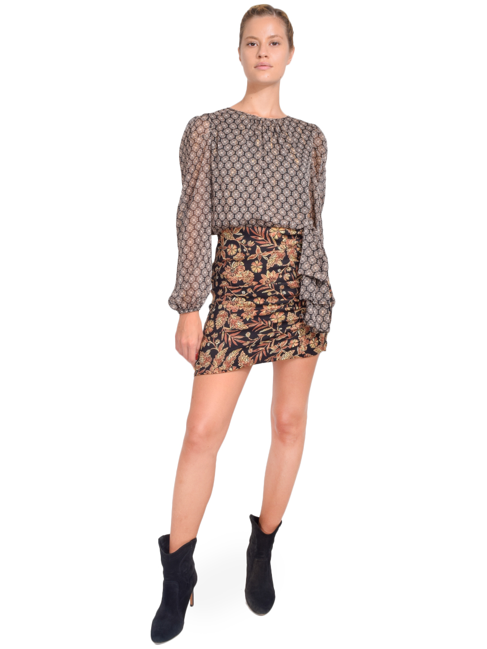 MISA Amber Dress in Gilded Paisley Front View X1https://cdn11.bigcommerce.com/s-3wu6n/products/33378/images/110323/41__72017.1599694286.244.365.jpg?c=2X2
