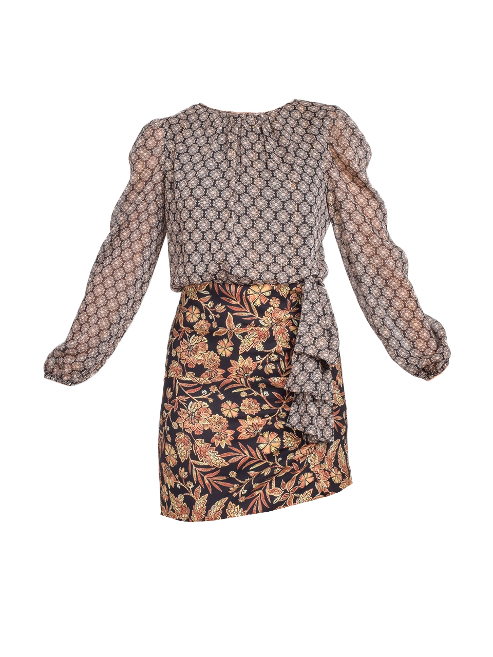 MISA Amber Dress in Gilded Paisley Product Shot