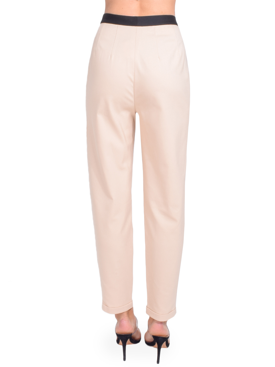 Alice + Olivia Roy Front Pleat Pant in Sepia Back View