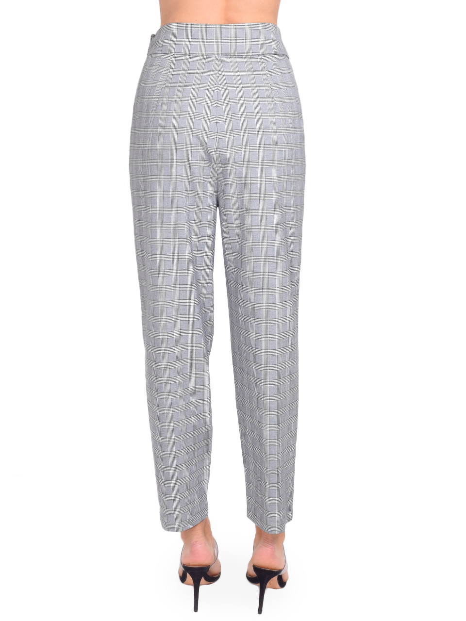 CINQ A SEPT Serenity Pant in Houndstooth Plaid Back View