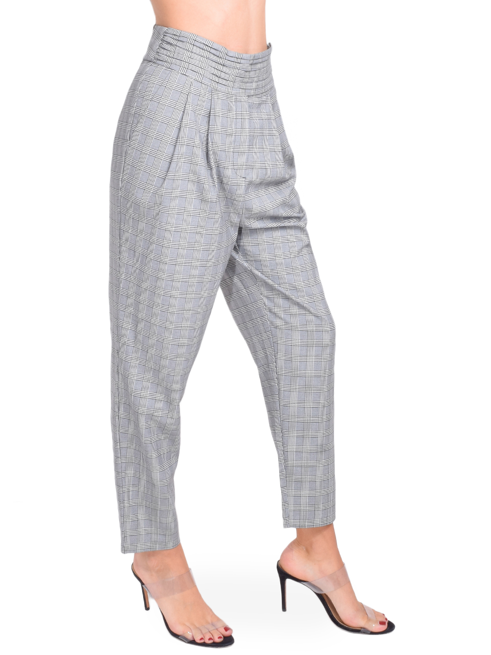 CINQ A SEPT Serenity Pant in Houndstooth Plaid Side View