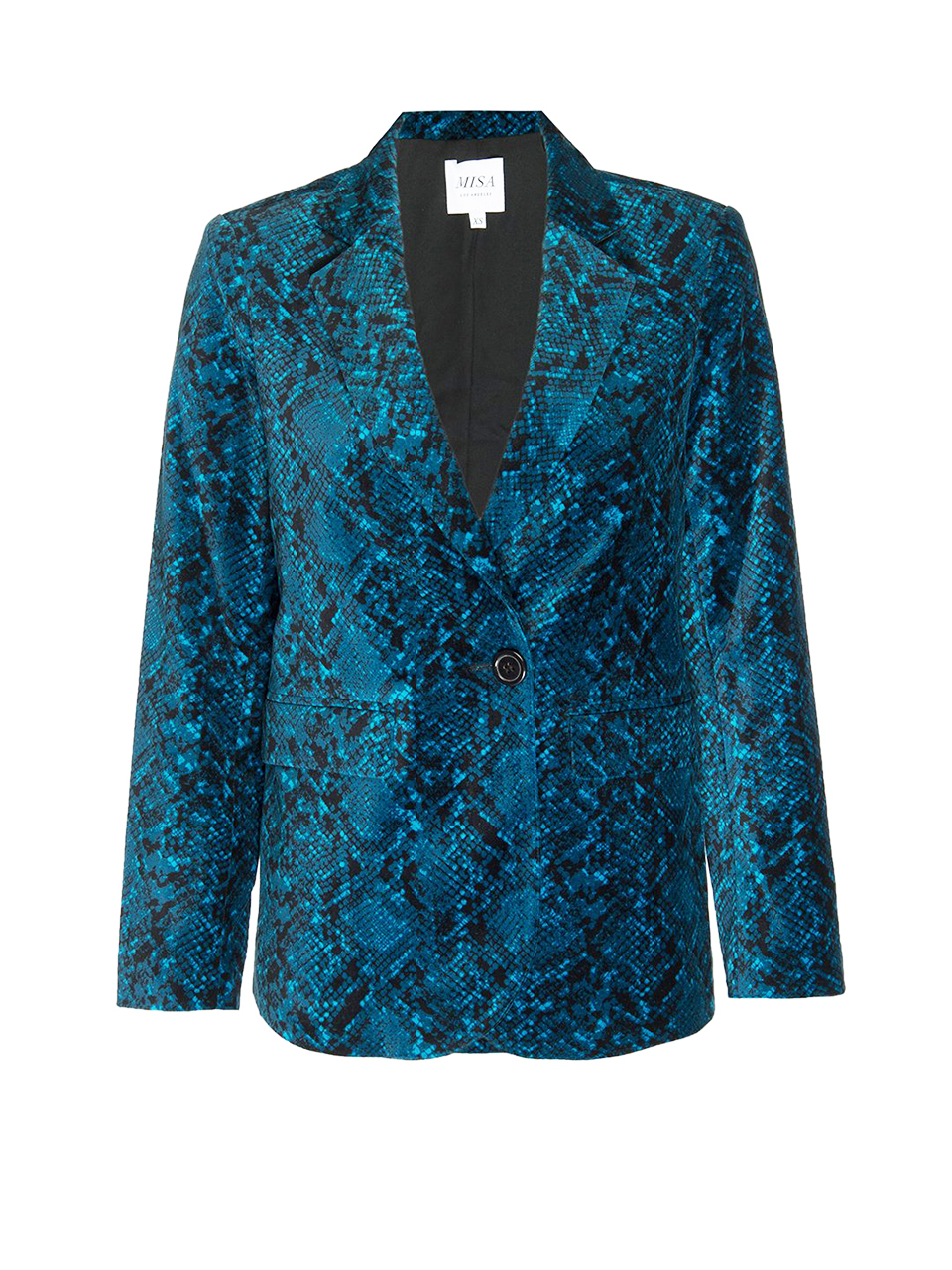 MISA Catroux Jacket in Teal Snake Product Shot