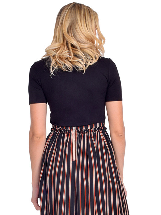 Ripley Rader Fitted Tee in Black Back View
