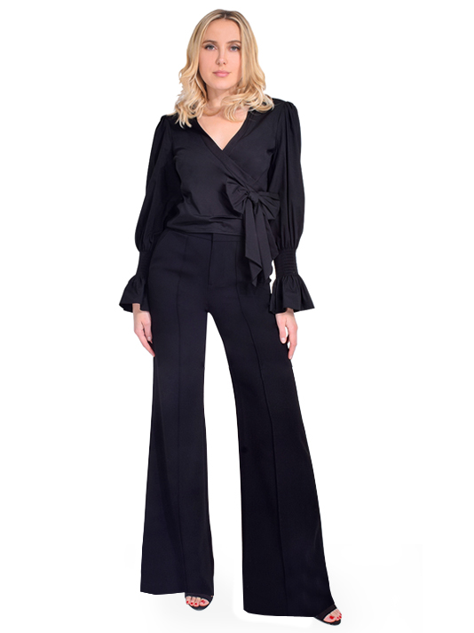 ALICE + OLIVIA Dylan Wide Leg Trouser Full Outfit