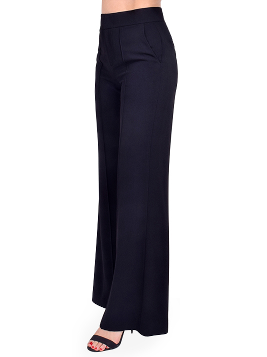 ALICE + OLIVIA Dylan Wide Leg Trouser Side View