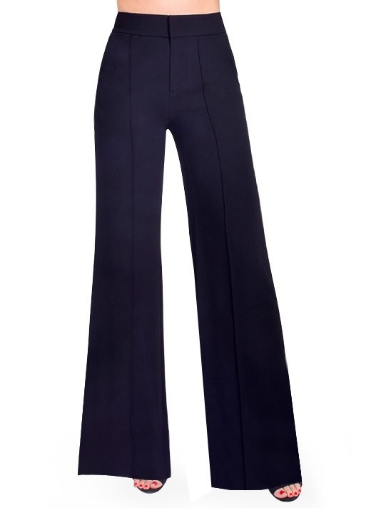 ALICE + OLIVIA Dylan Wide Leg Trouser Front View  X1https://cdn11.bigcommerce.com/s-3wu6n/products/33589/images/111263/DSC_0700_Full__01371.1607139601.244.365.jpg?c=2X2