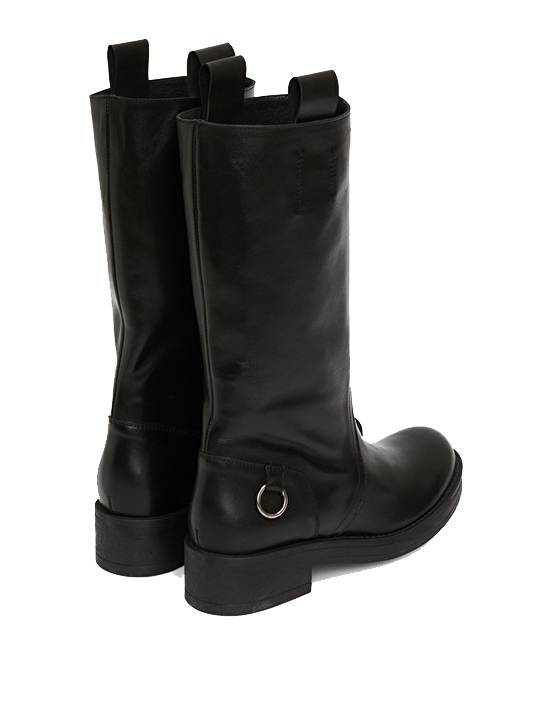 Ottod'Ame Biker Boot in Black  Back View