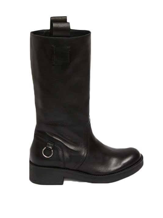 Ottod'Ame Biker Boot in Black  Side View X1https://cdn11.bigcommerce.com/s-3wu6n/products/33597/images/111290/Leather-Boots-4__90506.1607294491.244.365.jpg?c=2X2