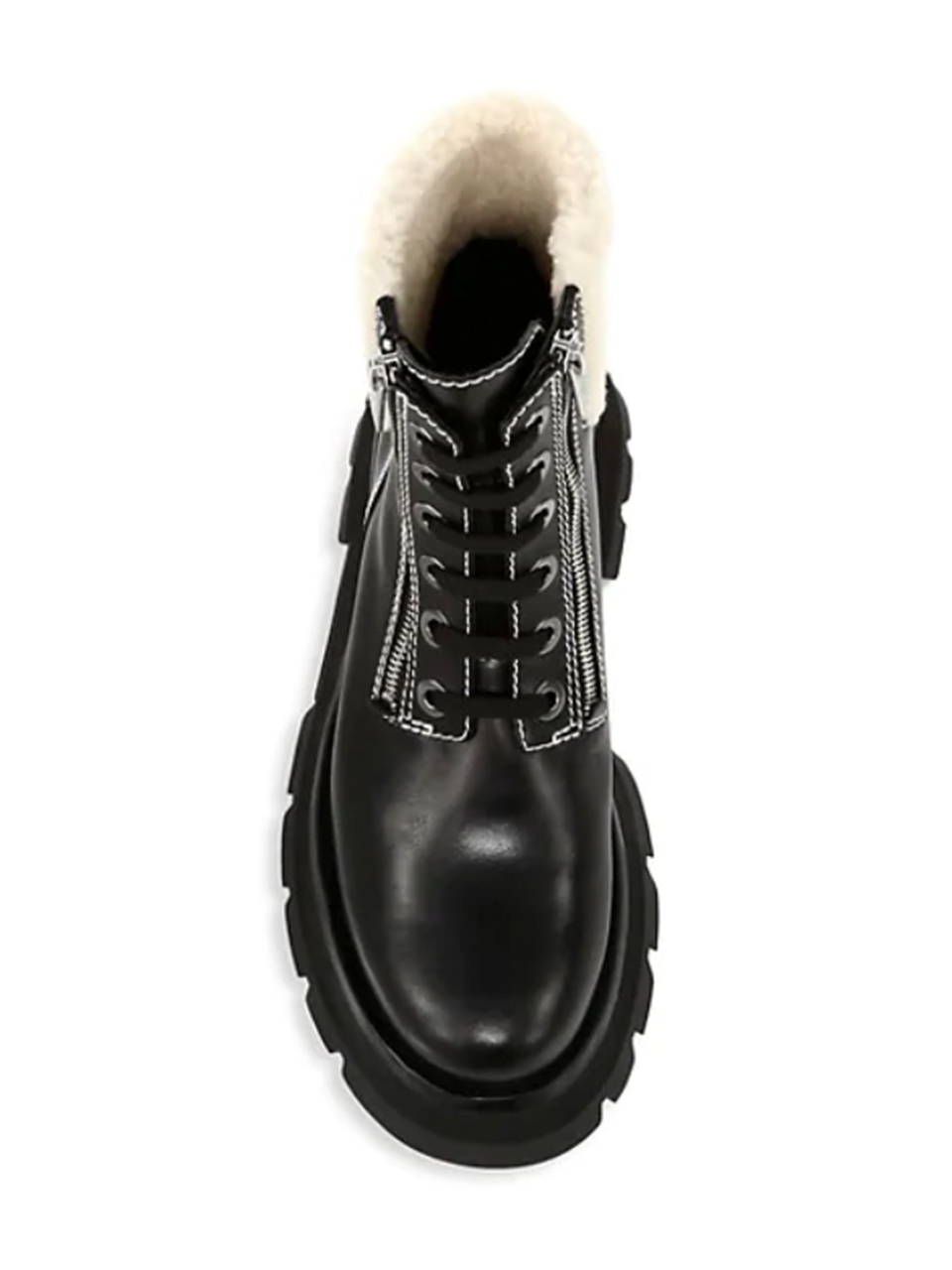 3.1 Phillip Lim Kate Lug Sole Shearling Boot Top View