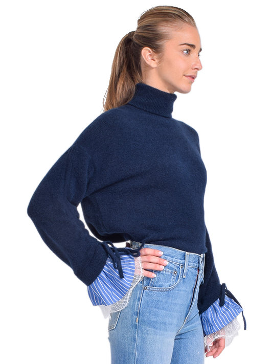Cinq à Sept Atlas Turtleneck Sweater Side View