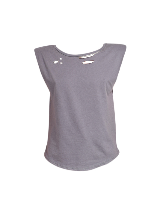 Alla Berman Tylar Muscle Tee in Charcoal Product Shot