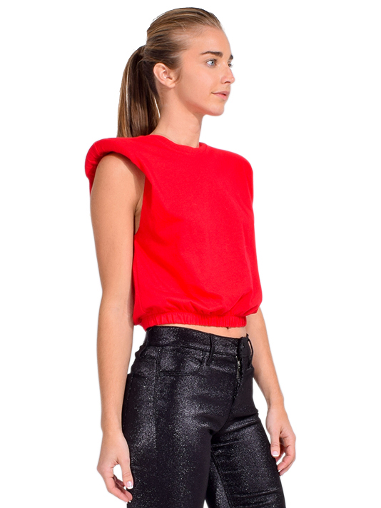 Alla Berman Charley Muscle Tee in Red Side View
