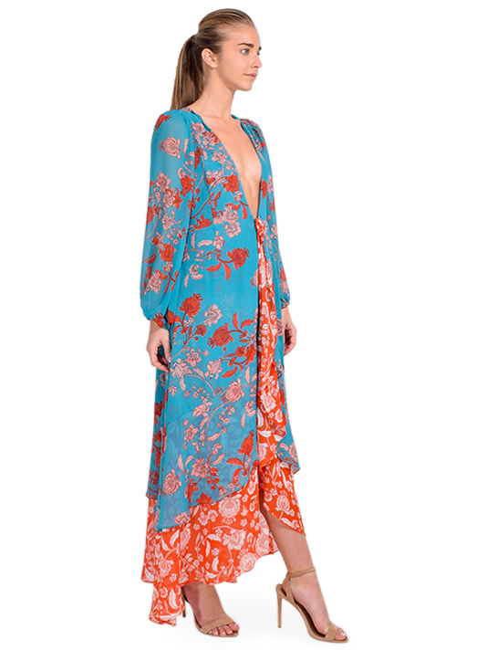 MISA Talitha Robe in Paisley Side View