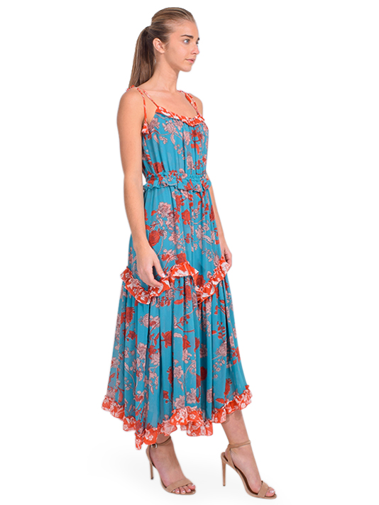 MISA Nati Dress in Paisley Side View