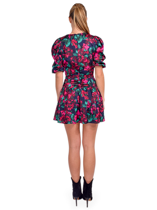 MISA Narcissa Dress in Enchanted Floral Back View