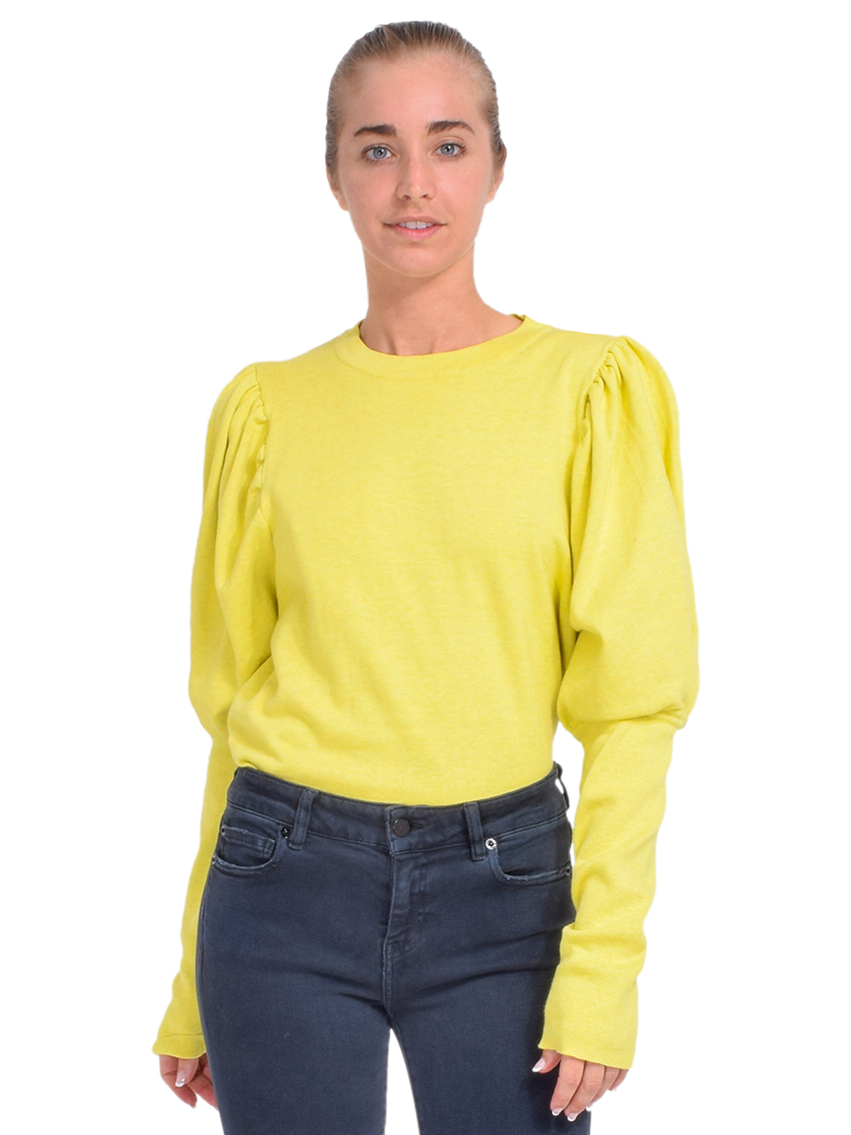 MISA Kali Sweater in Chartreuse Front View  x1https://cdn11.bigcommerce.com/s-3wu6n/products/33743/images/112012/DSC_0733_Full__50348.1614380134.244.365.jpg?c=2x2