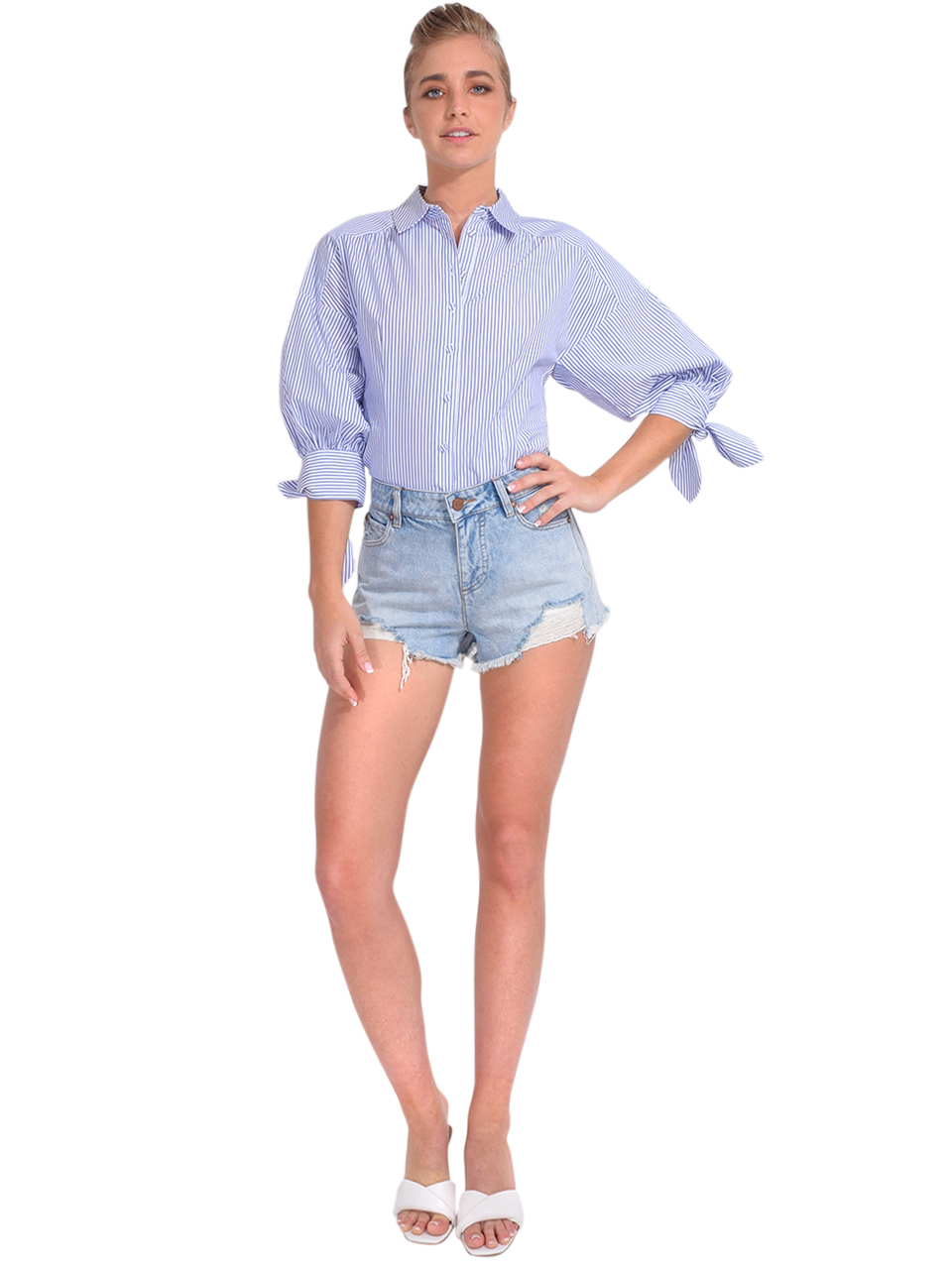ALICE + OLIVIA Amazing High Rise Vintage Short Full Outfit