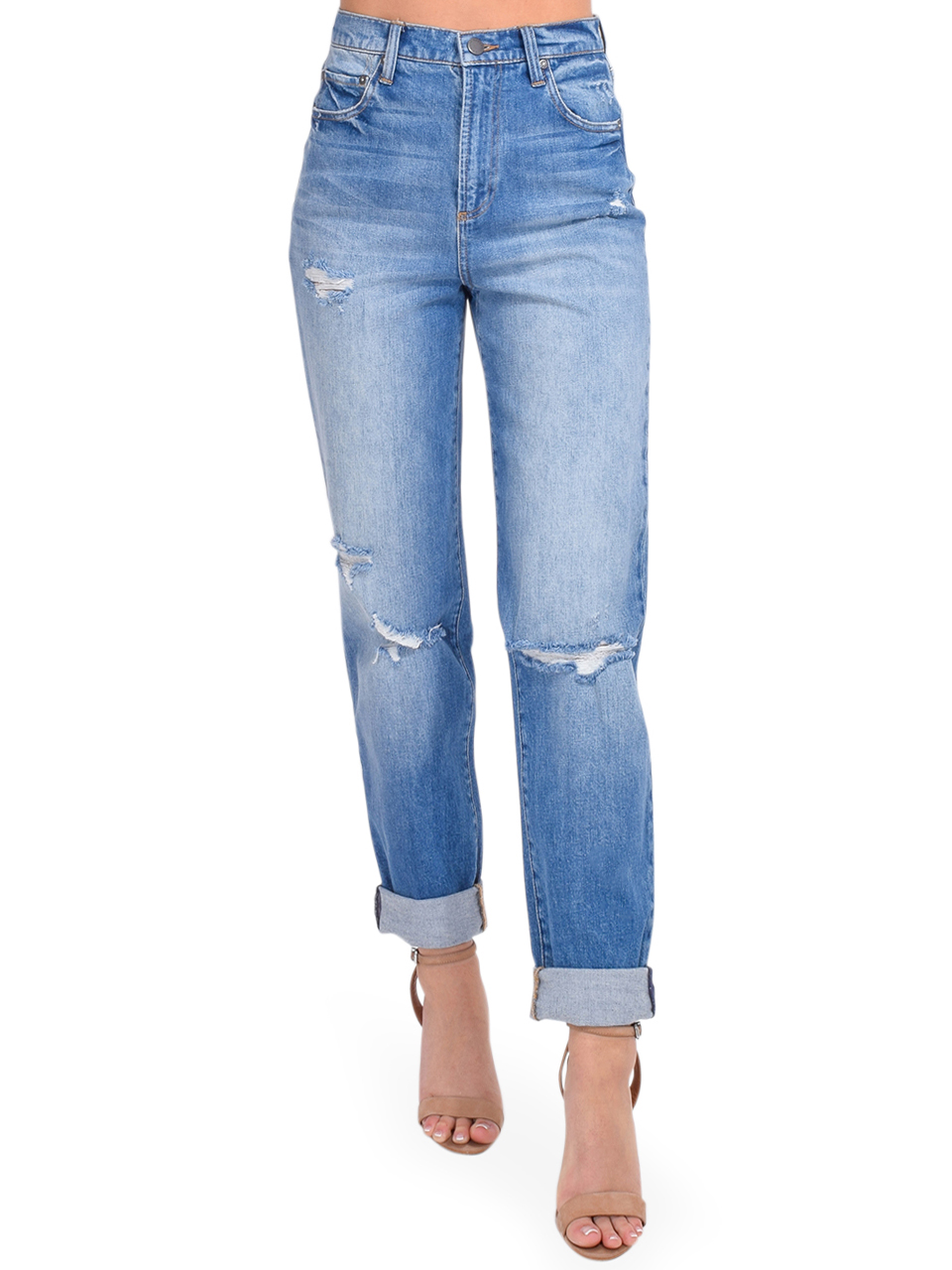 ALICE + OLIVIA Katerina High Waist Baggy Jean Front View  x1https://cdn11.bigcommerce.com/s-3wu6n/products/33807/images/112315/DSC_0163_Full__63981.1616456957.244.365.jpg?c=2x2