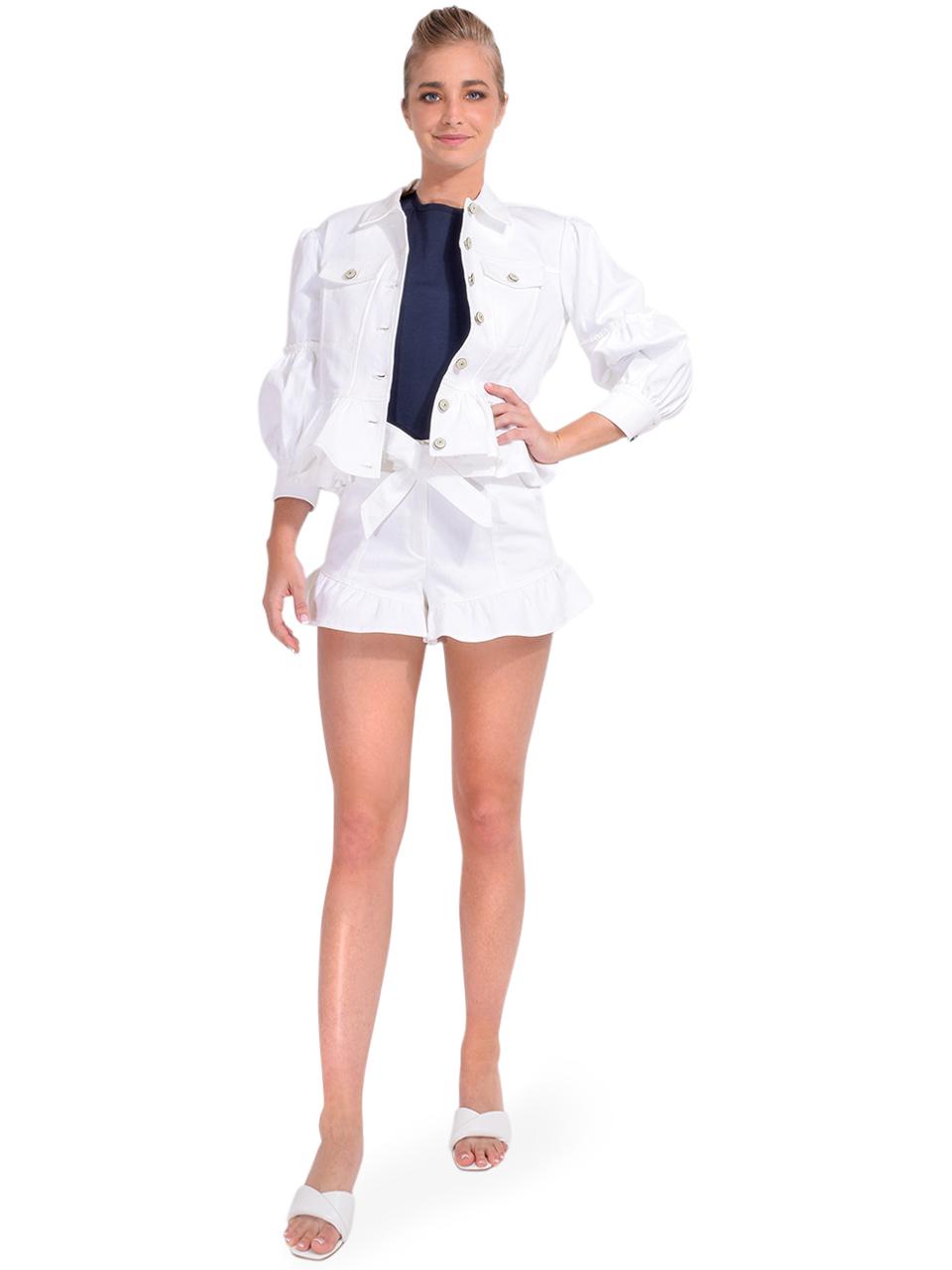 Cinq à Sept Lizzie Peplum Jacket Full Outfit