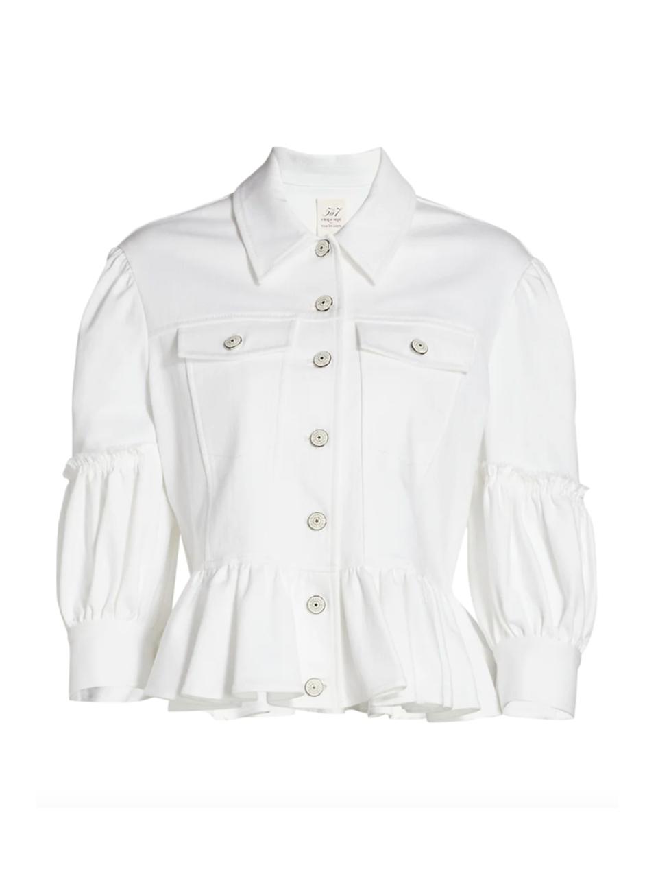 Cinq à Sept Lizzie Peplum Jacket Product Shot