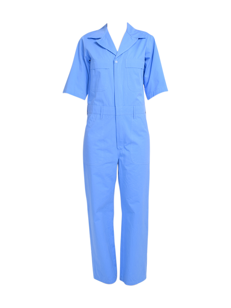 Ottod'Ame Cotton Jumpsuit in Blue Product Shot