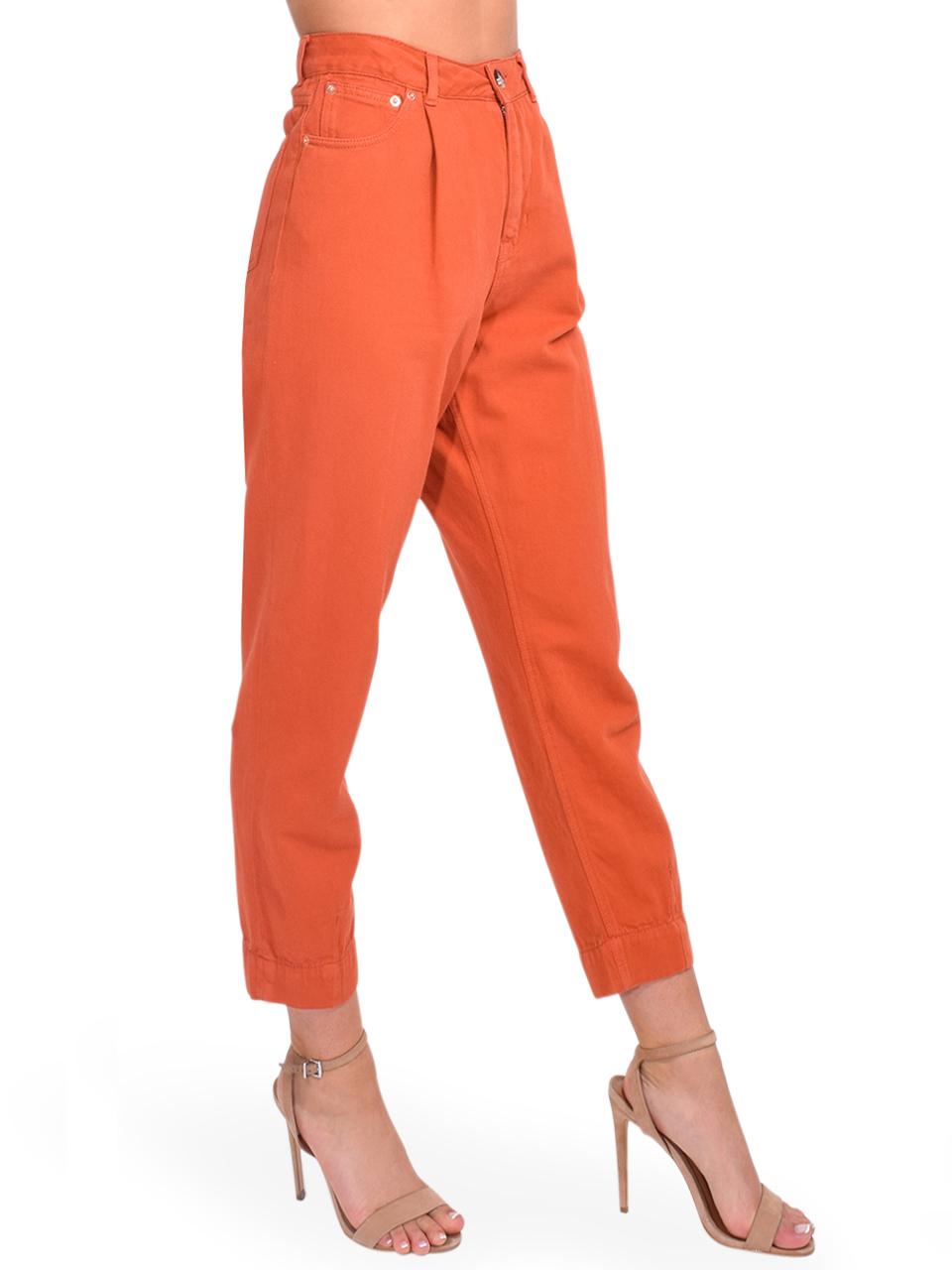 Bellerose Pleaty Jeans in Terracotta Side View
