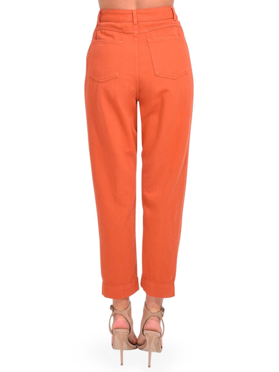 Bellerose Pleaty Jeans in Terracotta Back View