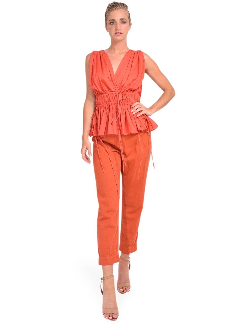 Bellerose Pleaty Jeans in Terracotta Full Outfit
