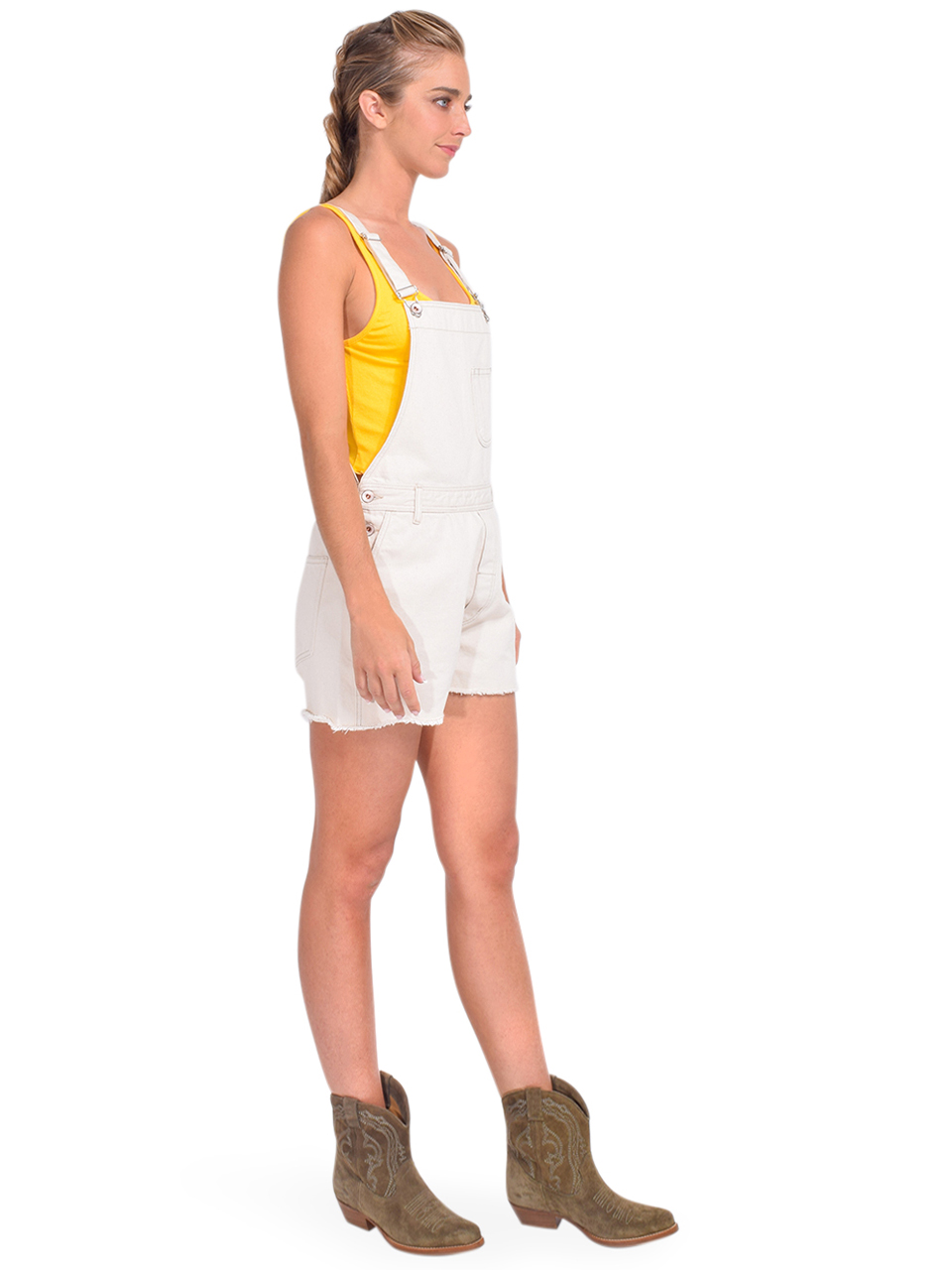 Bellerose Pachita Overall Shorts in Natural Side View