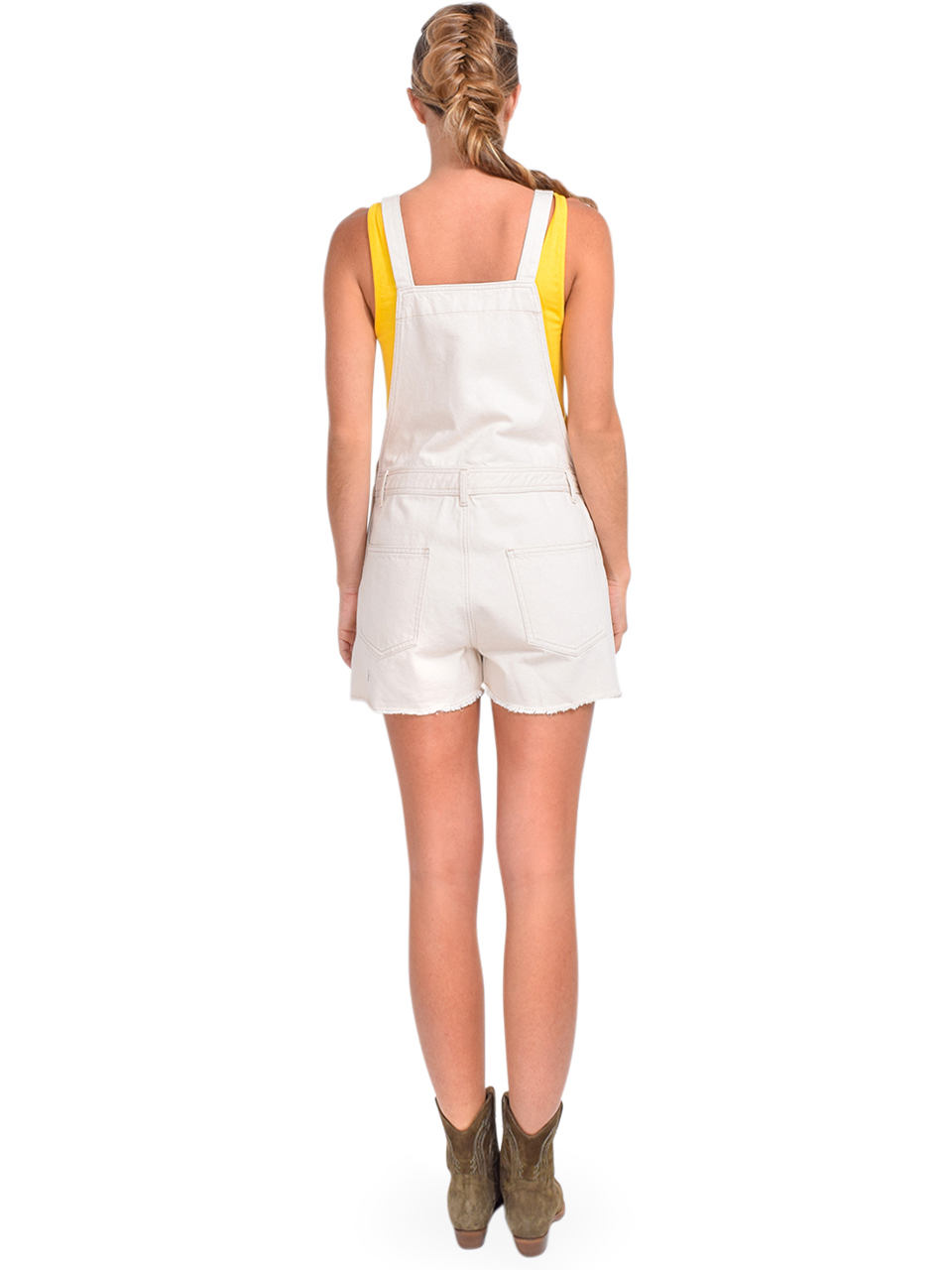 Bellerose Pachita Overall Shorts in Natural Back View