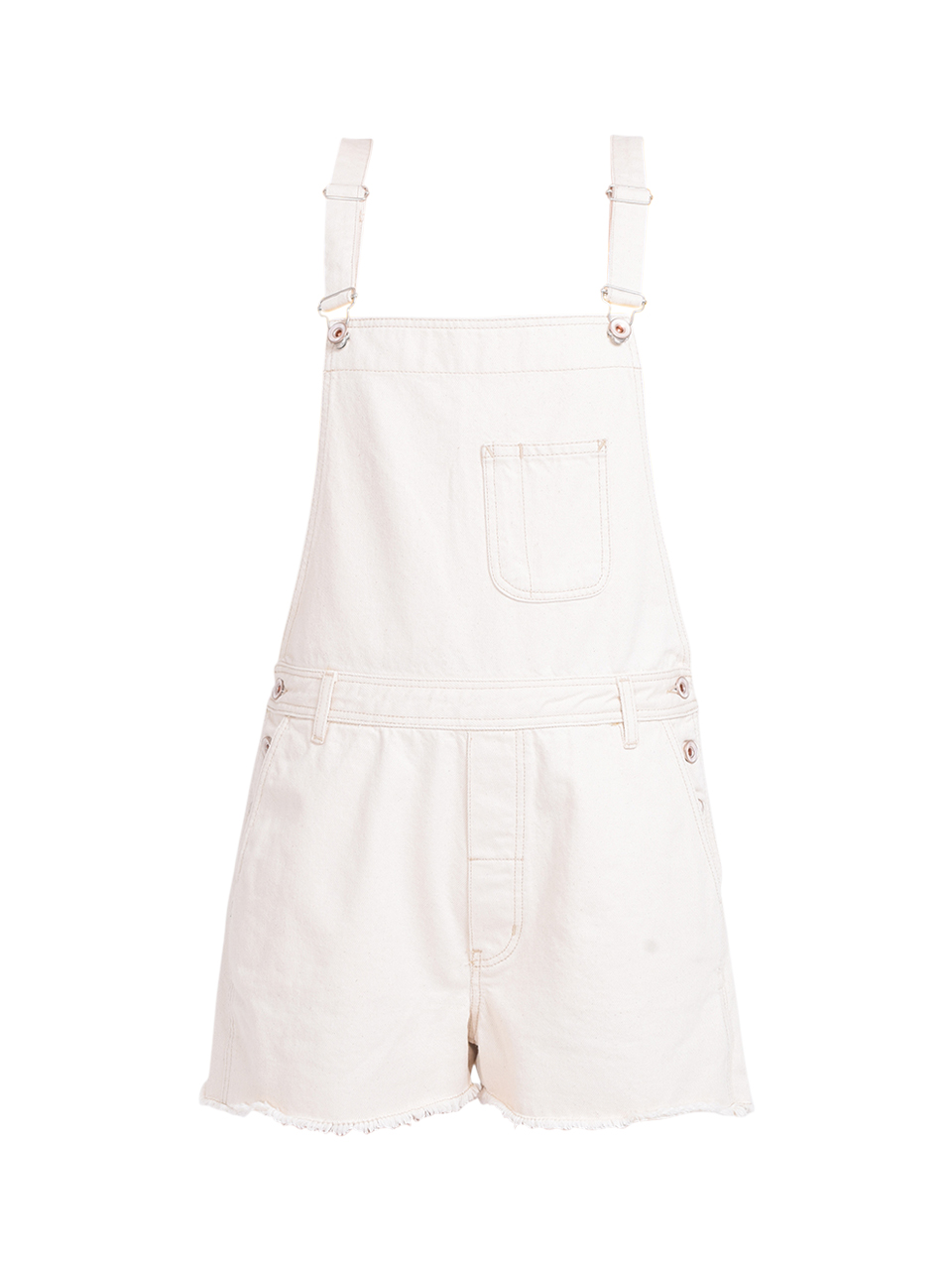 Bellerose Pachita Overall Shorts in Natural Product Shot
