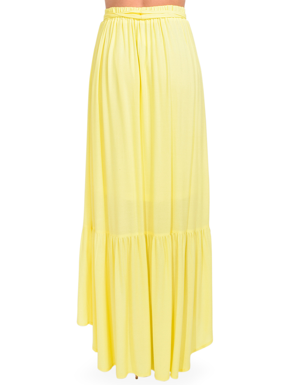 KASIA Sifnos Maxi Skirt in Yellow Back View