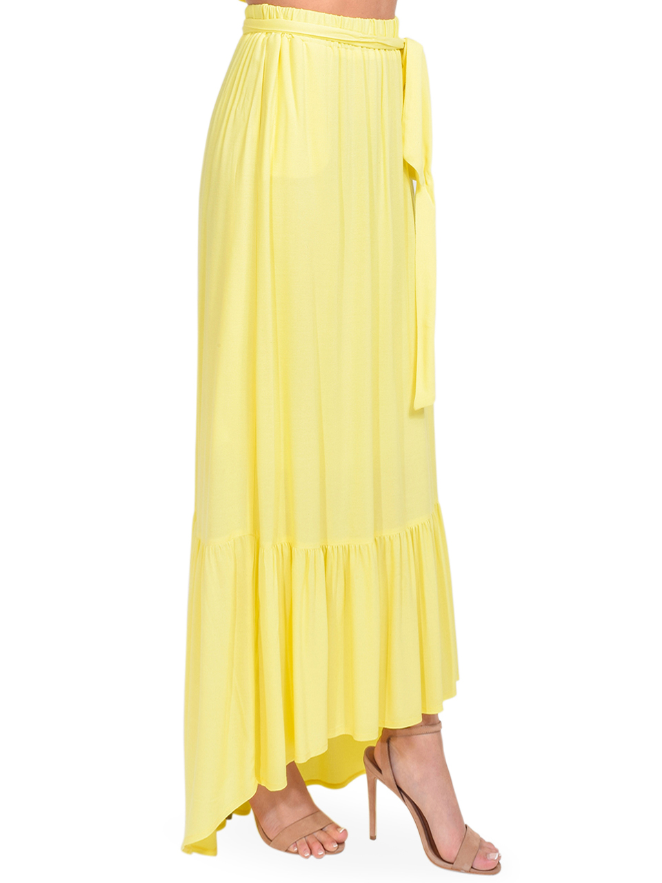 KASIA Sifnos Maxi Skirt in Yellow Side View