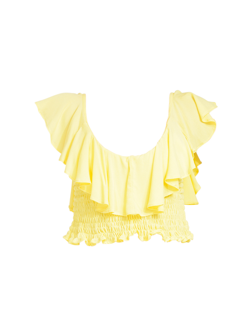 KASIA Sifnos Crop Top in Yellow Product Shot