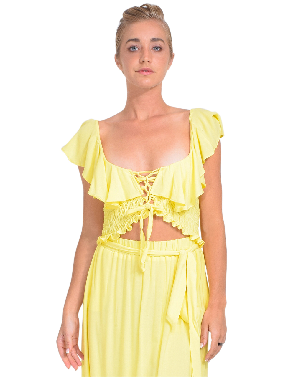 KASIA Sifnos Crop Top in Yellow Front View 1 x1https://cdn11.bigcommerce.com/s-3wu6n/products/33979/images/113176/DSC_0401_Full__37741.1620695904.244.365.jpg?c=2x2