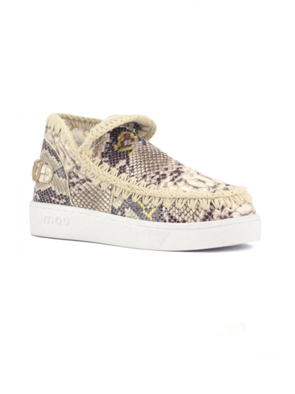 MOU Summer Eskimo Sneakers in Rock Snake Alternate Side View