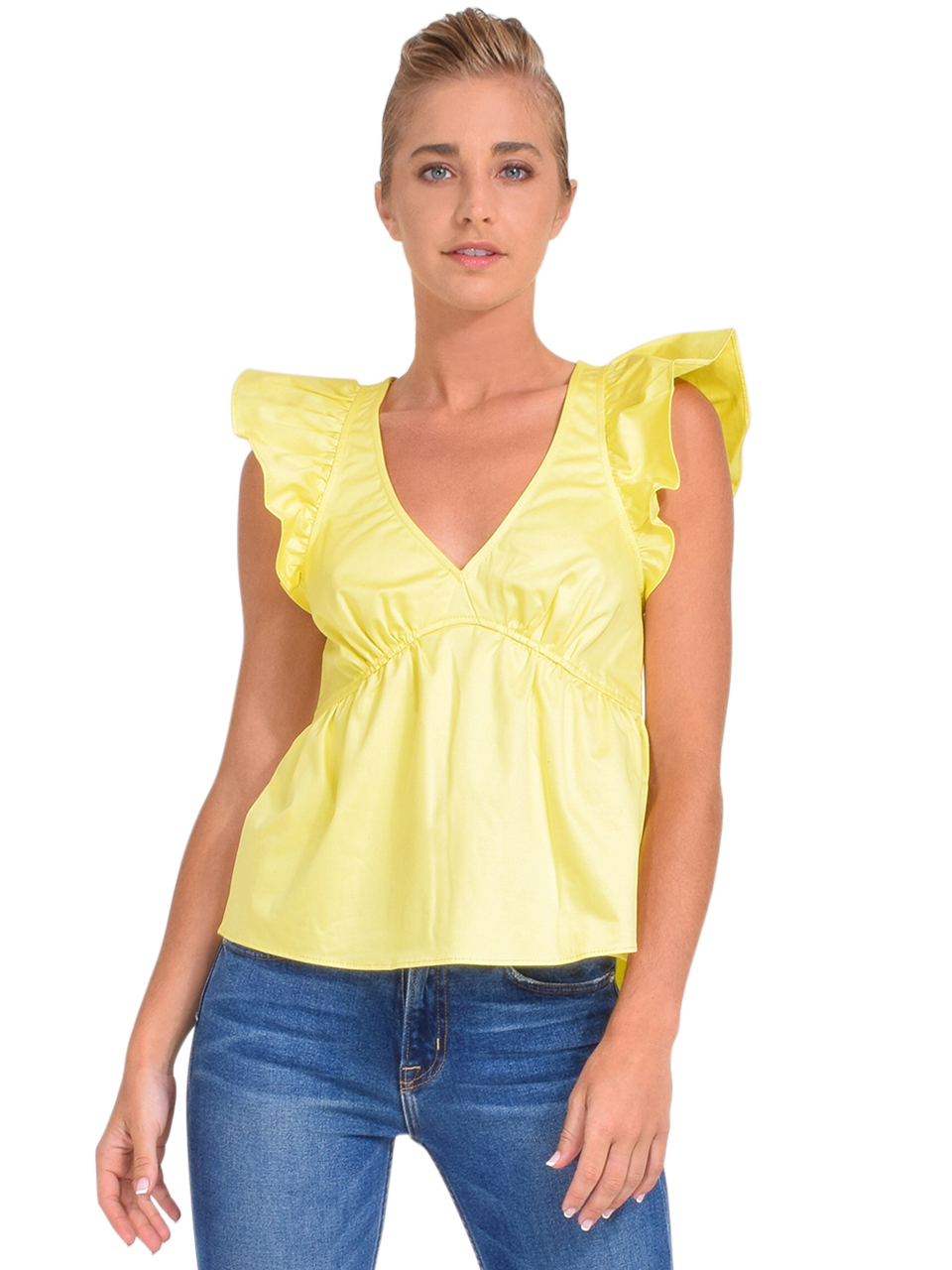 Cinq à Sept Camille Flutter Sleeve Top Front View  x1https://cdn11.bigcommerce.com/s-3wu6n/products/34020/images/113384/DSC_0714_Full__51301.1621815949.244.365.jpg?c=2cx2