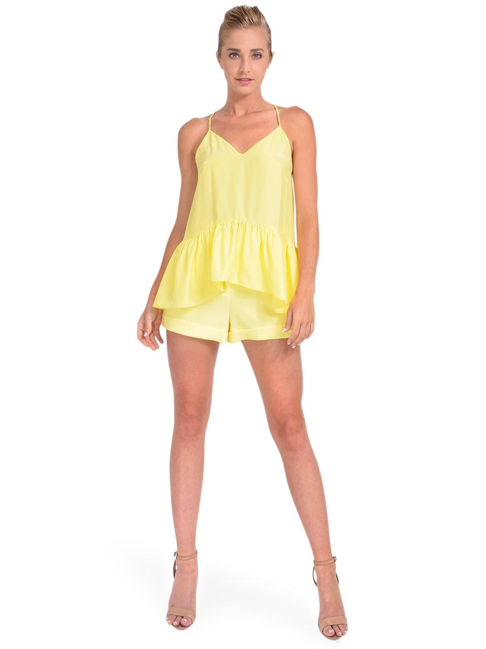 Cinq à Sept Janet Ruffle Hem Top Full Outfit