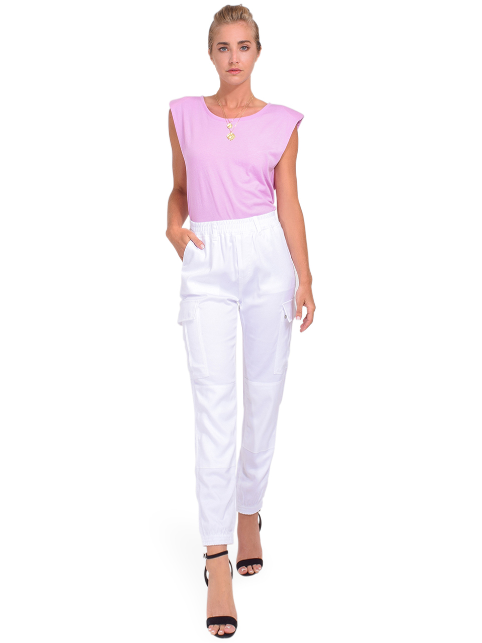 Alla Berman Jaymes Tee in Lilac Full Outfit