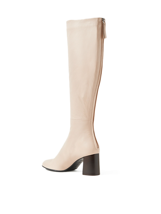 3.1 PHILLIP LIM Nadia Leather Knee Boots in Almond Back View