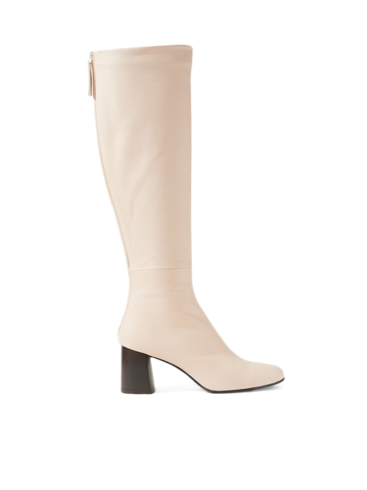 3.1 PHILLIP LIM Nadia Leather Knee Boots in Almond Side View