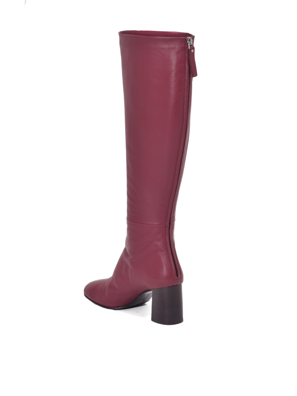 3.1 PHILLIP LIM Nadia Leather Knee Boots in Burgundy Back View
