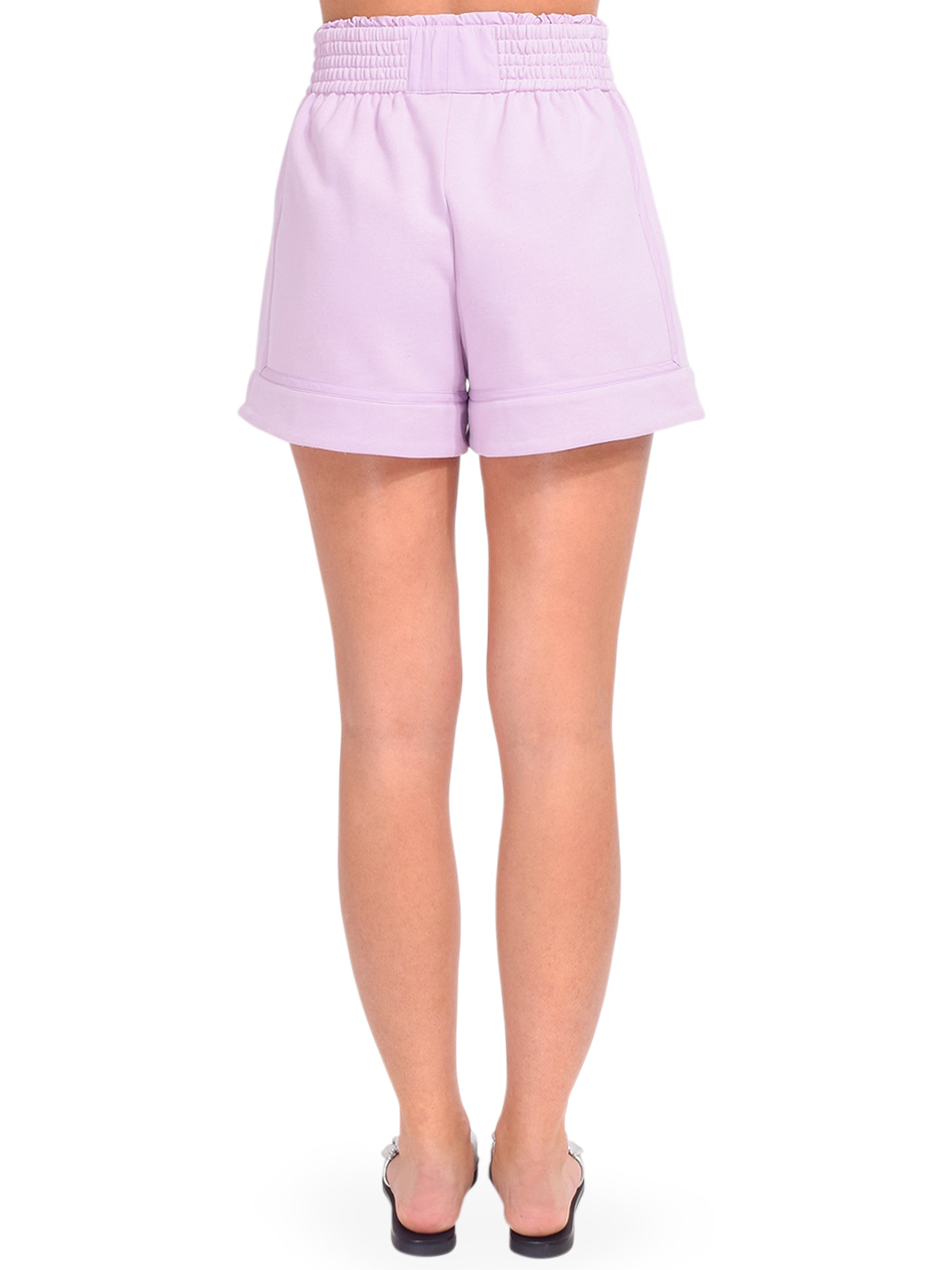 3.1 Phillip Lim French Terry Boxer Shorts in Lavender Back View