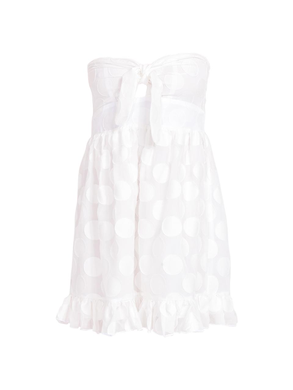 Karina Grimaldi Annie Dot Mini Dress in White Product Shot