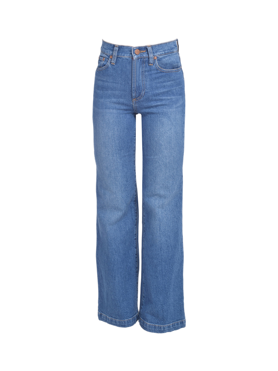Alice + Olivia Liza Mid Rise Straight Ankle Jean in Best Intentions Product Shot