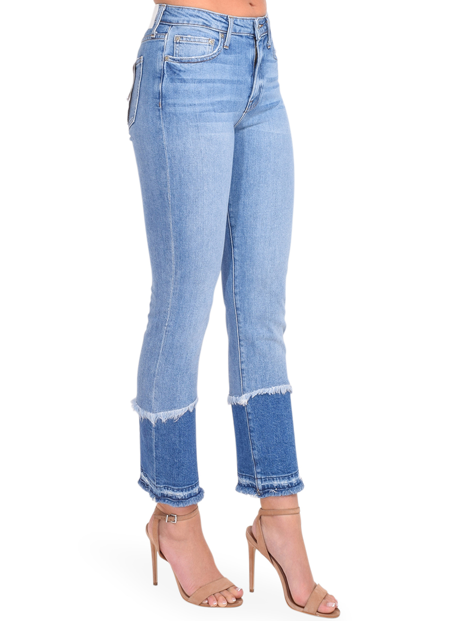 River Straight Leg Jean in Cayucas Light Wash Side View