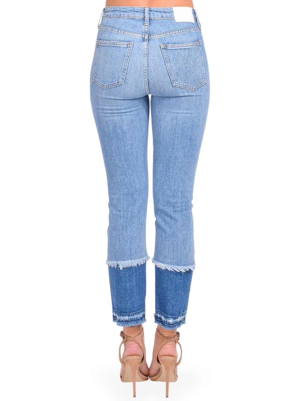 River Straight Leg Jean in Cayucas Light Wash Back View