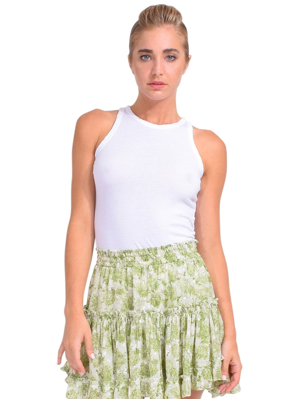 Cotton Citizen Standard Tank in White Front View
