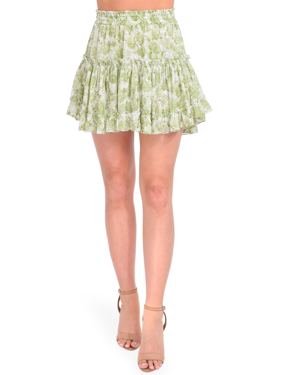 MISA Marion Skirt in Verdana Abstract Front View